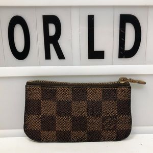 Louis Vuitton Damier Ebene coin case holder pouch